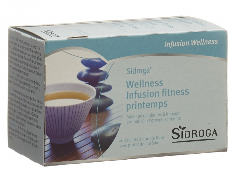 SIDROGA Wellness Infusion fitness printemps 20 sachets 1,5 g